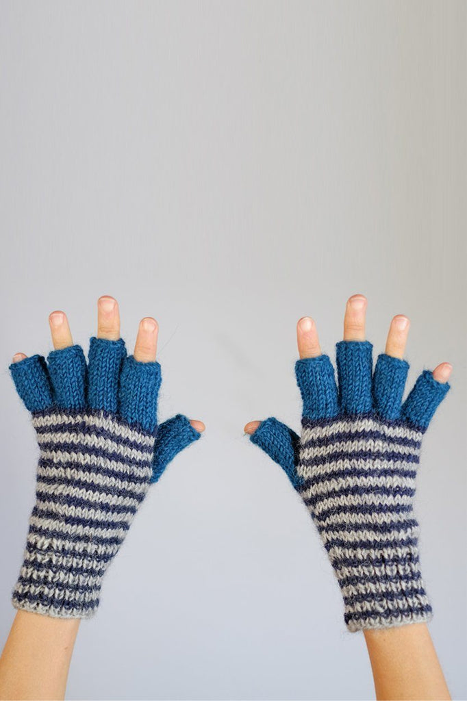 Hand knitted Wool Mittens - BIBICO