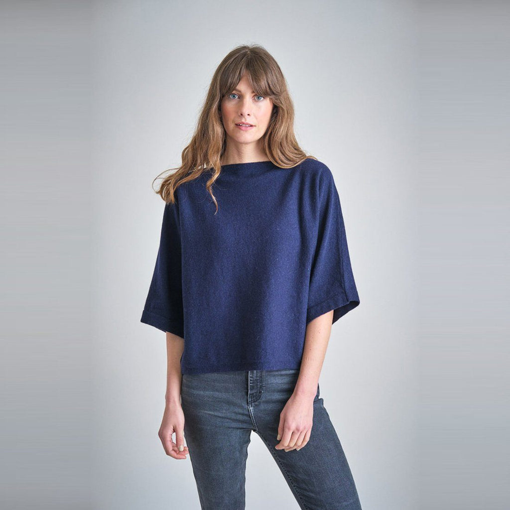 Holly Batwing Wool Sweater knitwear bibico