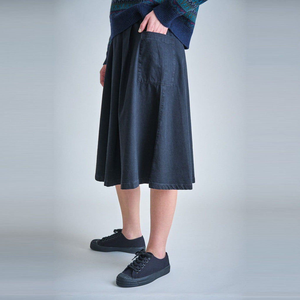 Janna Denim Midi Skirt Bibico