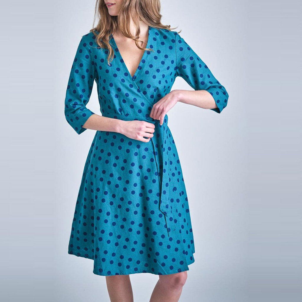 Jasmine Dotty Wrap Dress Bibico