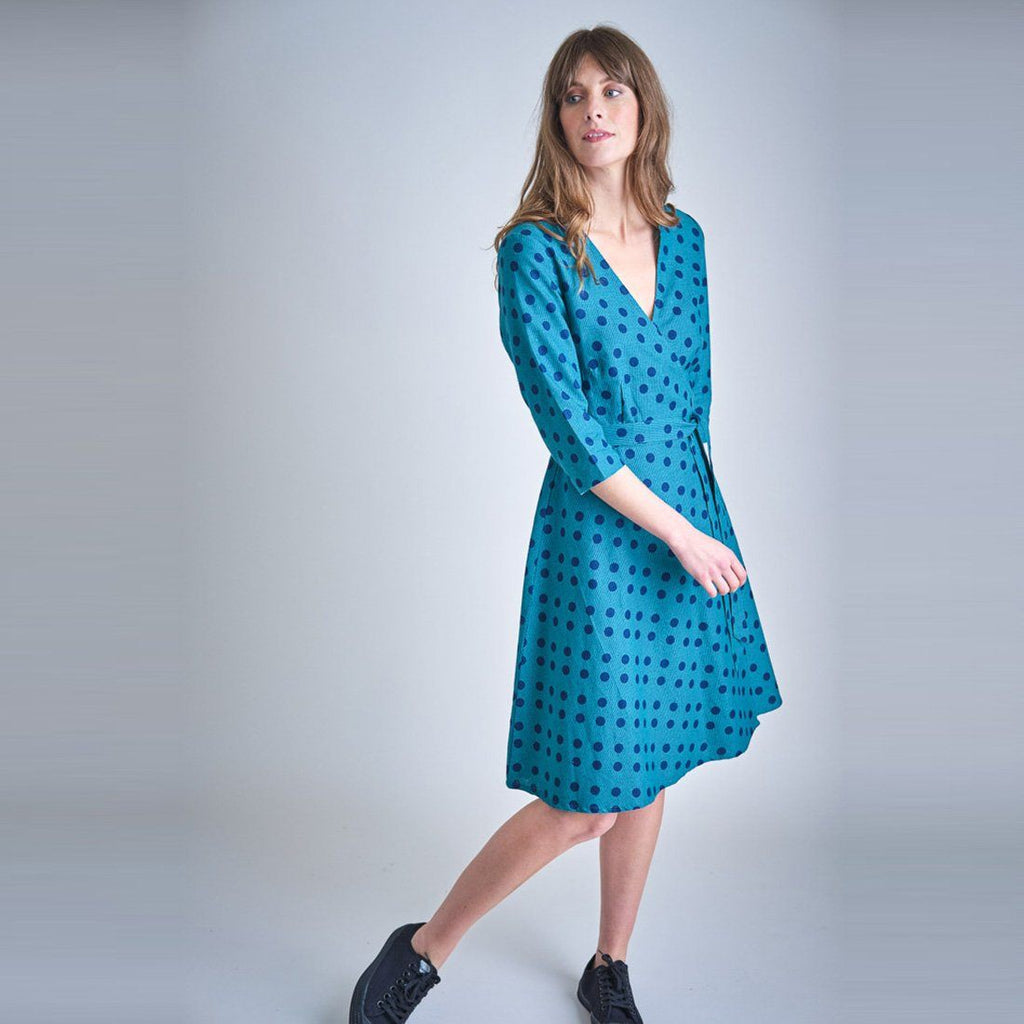 Jasmine Dotty Wrap Dress dress BIBICO