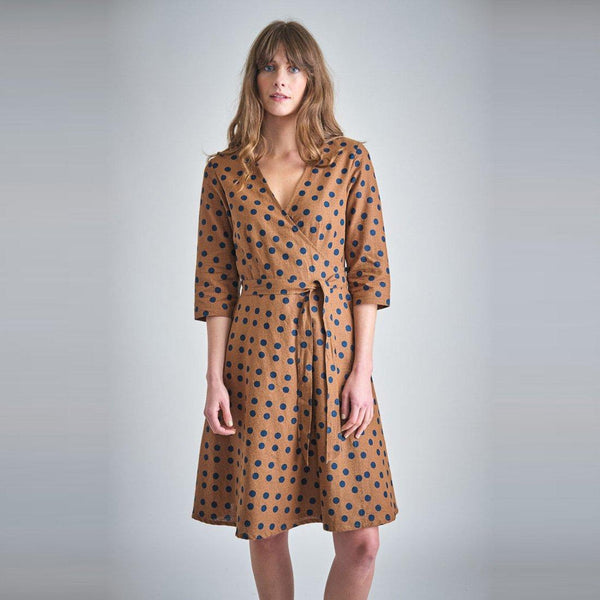 Jasmine Polka Dot Wrap Dress Bibico