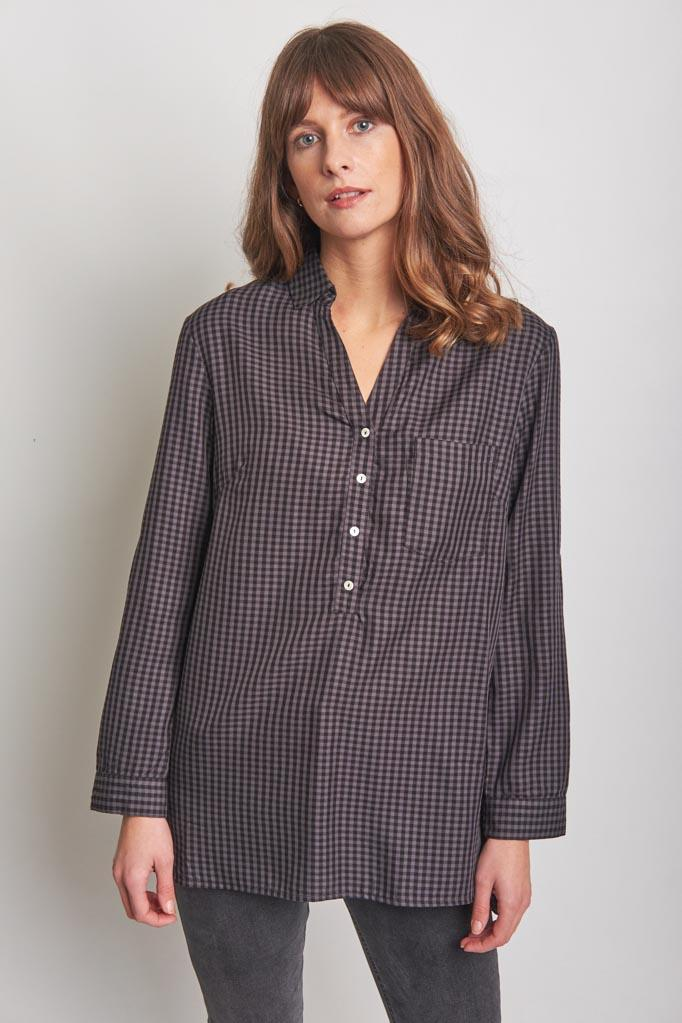 Jess Oversized Check Shirt - BIBICO