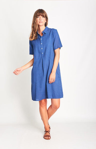 Joe Linen Shirt Dress - BIBICO
