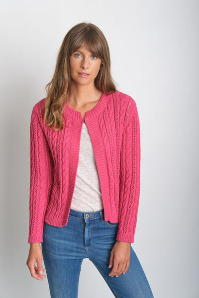 Kate Cropped Organic Cotton Cardigan
