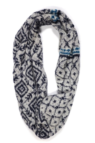 Knitted Fair Isle Snood - BIBICO