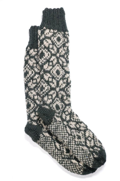 Knitted Snowflake Socks - BIBICO