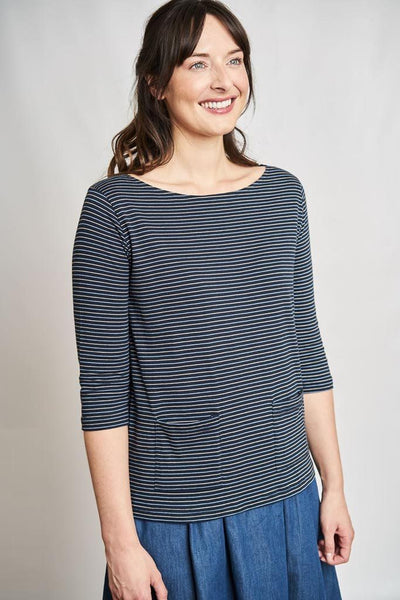 Layla Striped Organic Cotton T - BIBICO