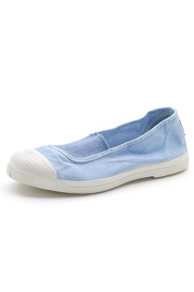 Light blue cotton slip on plimsolls - BIBICO