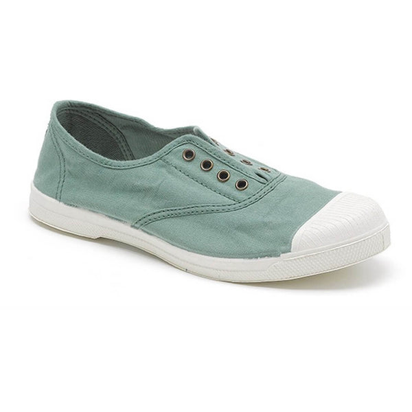 light green cotton plimsolls