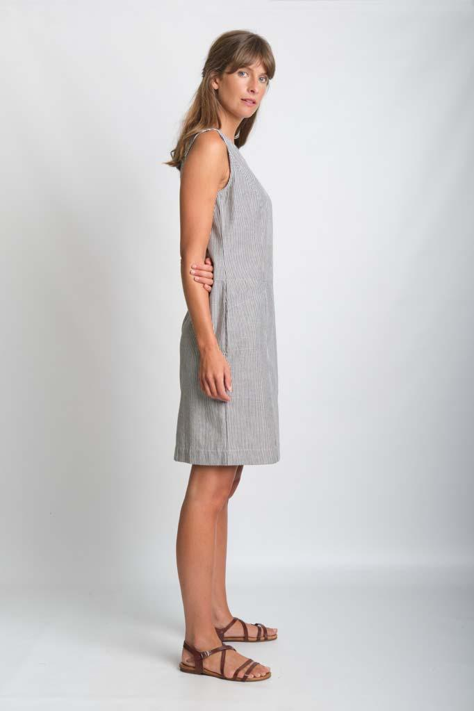 Linen Tara Shift Dress - BIBICO