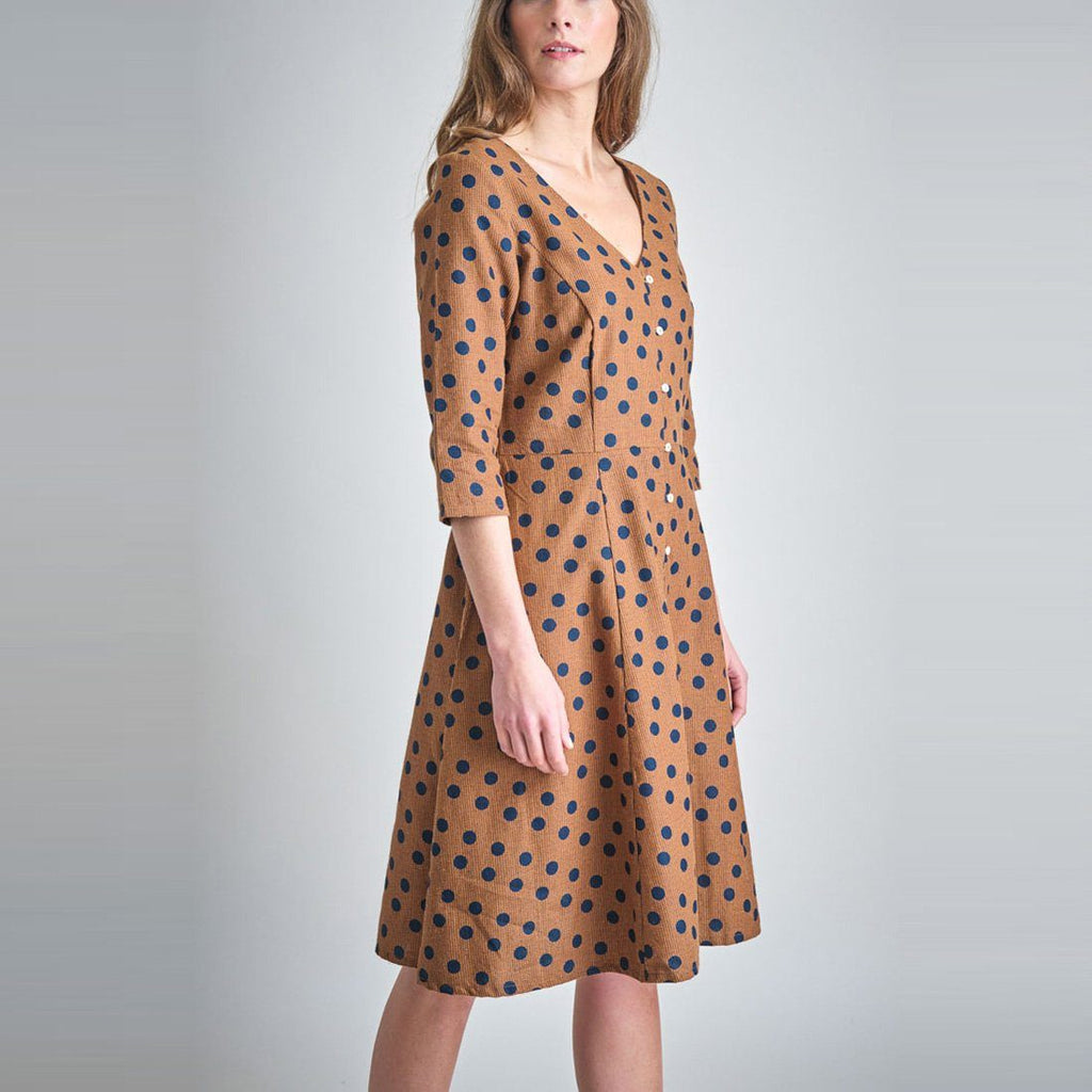 Liza Polka Dot Swing Dress dress BIBICO