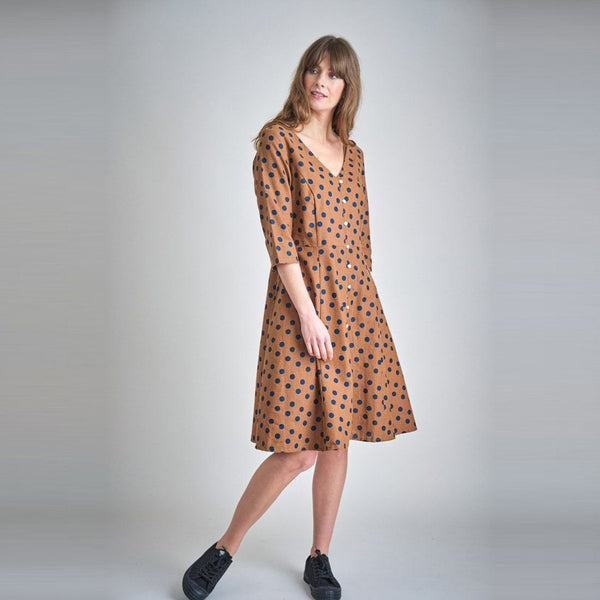 Liza Polka Dot Swing Dress Bibico