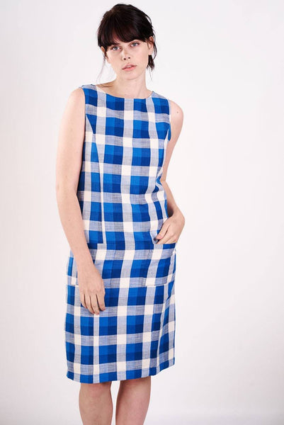 Lola Checked Pinafore Dress - BIBICO
