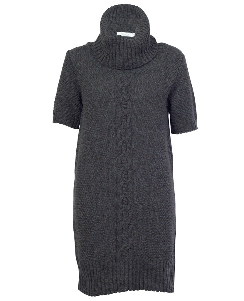 Lola Cowl Neck Green Knitted Dress - BIBICO