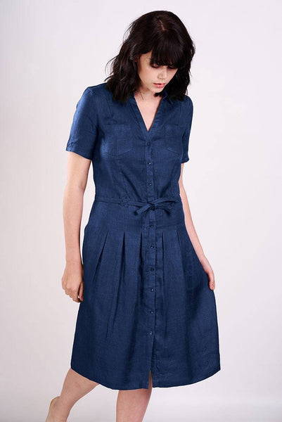 Lucia Denim Shirt Dress - BIBICO