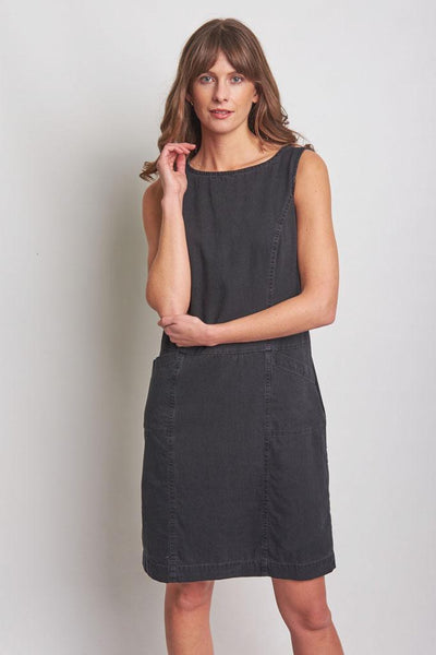 Lucy Denim Pinafore Dress - BIBICO