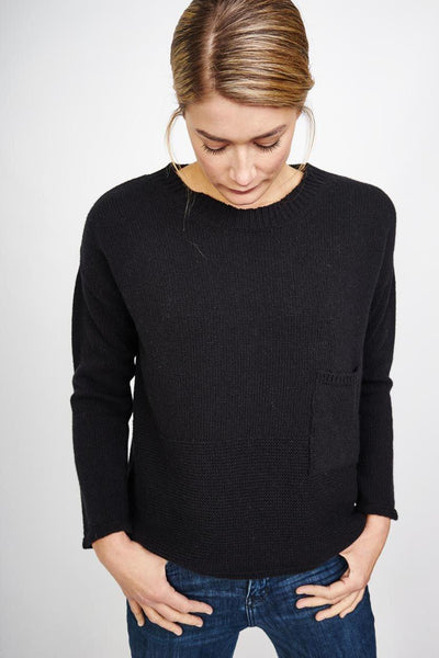 Mara Black Wool Jumper - BIBICO