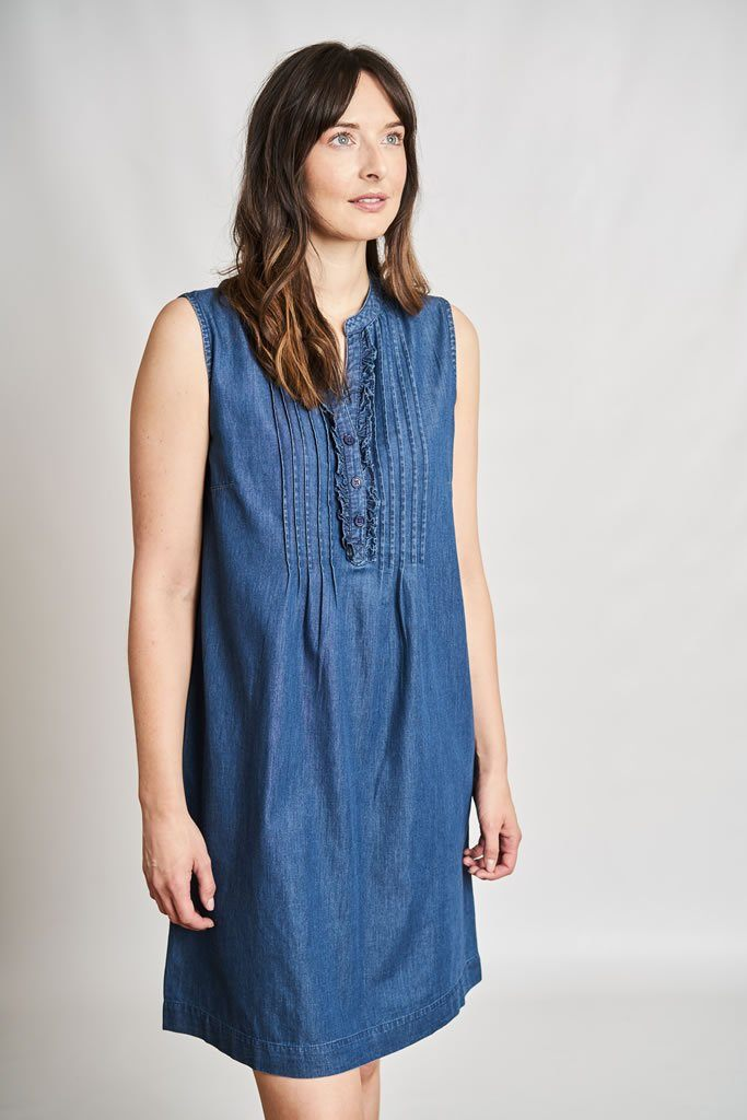 Margot Denim Sleeveless Dress - BIBICO