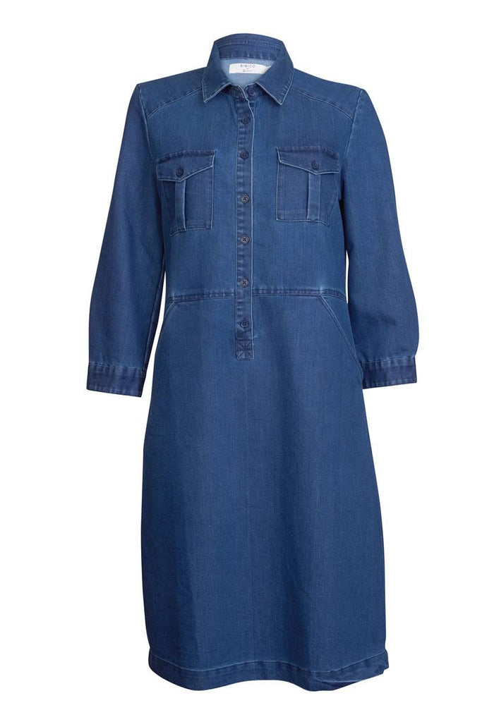 Marion Denim Shirt Dress - BIBICO