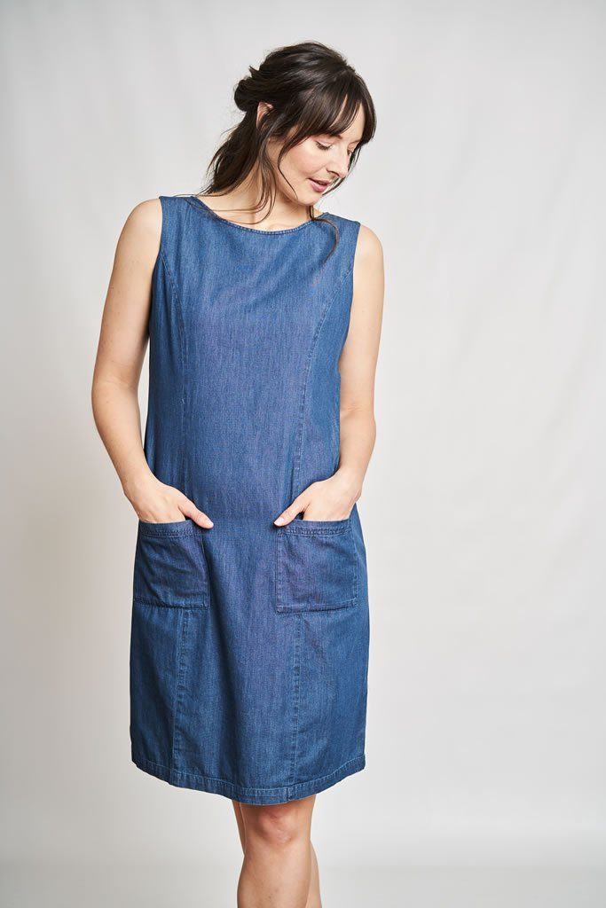 Matilde Denim Pinafore Dress - BIBICO