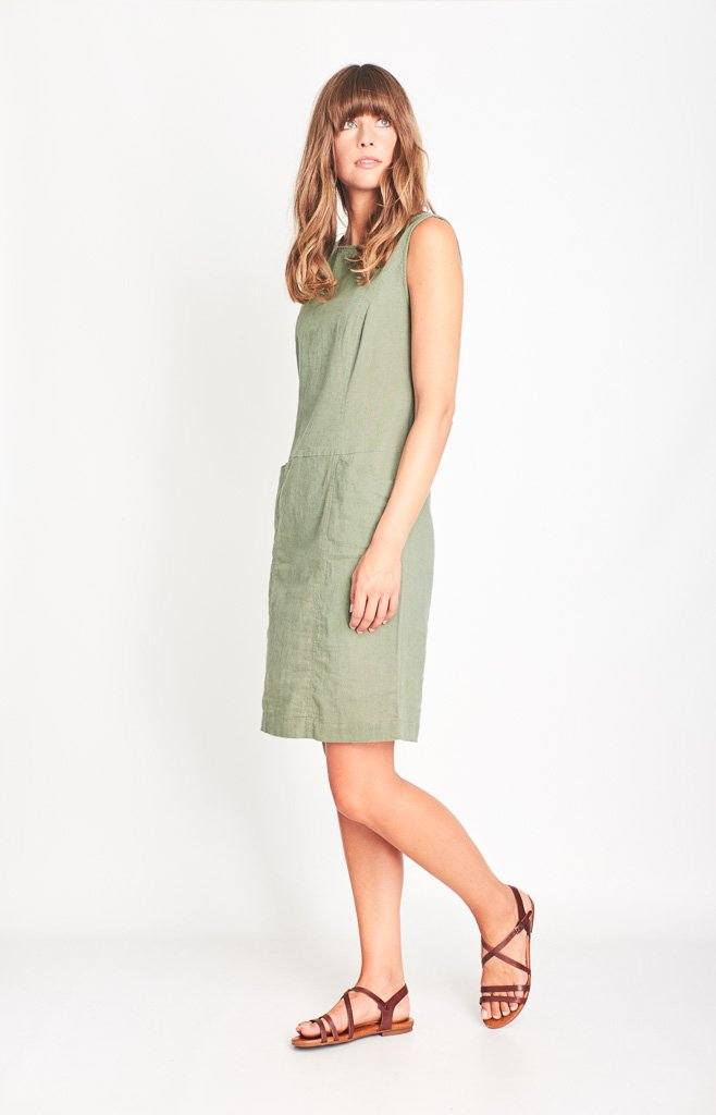 Matilde Linen Pinafore Dress - BIBICO