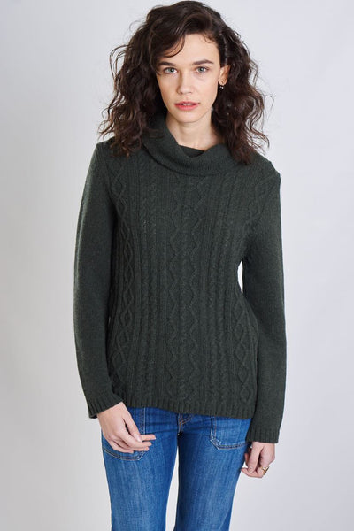 Moorland Turtle Neck Wool Jumper - BIBICO