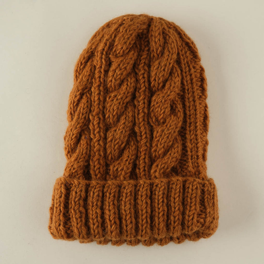 mustard coloured wool hat