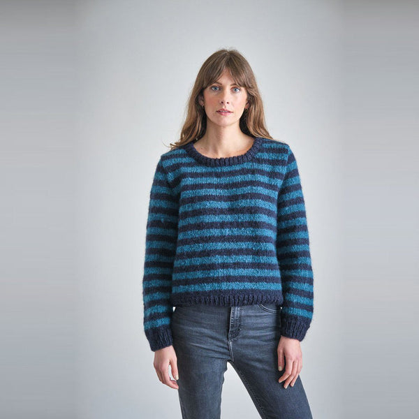 Nancy Hand Knitted Striped Jumper Bibico