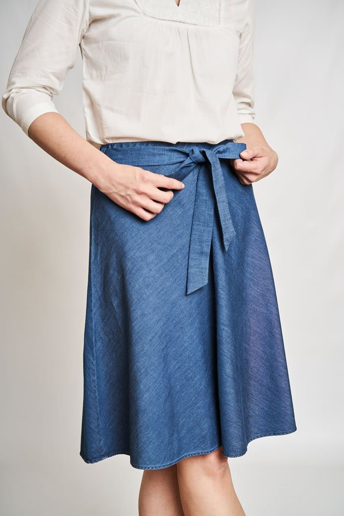 Naomi Floaty Denim Skirt - BIBICO