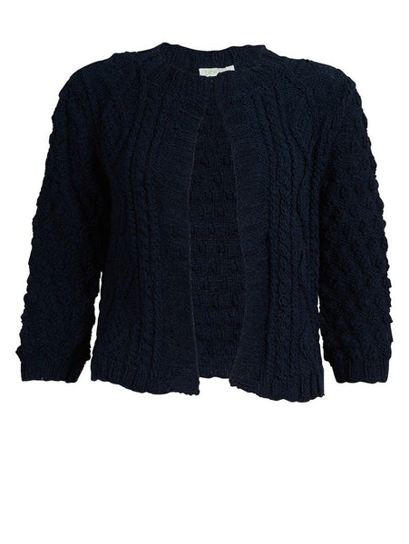 Navy Cropped Cardigan - BIBICO
