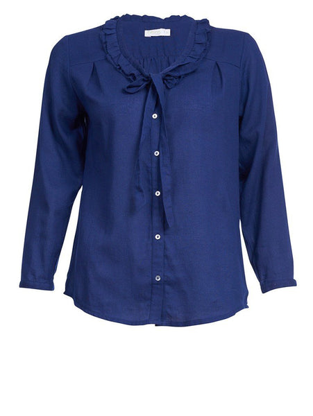 Navy Pussybow Blouse - BIBICO