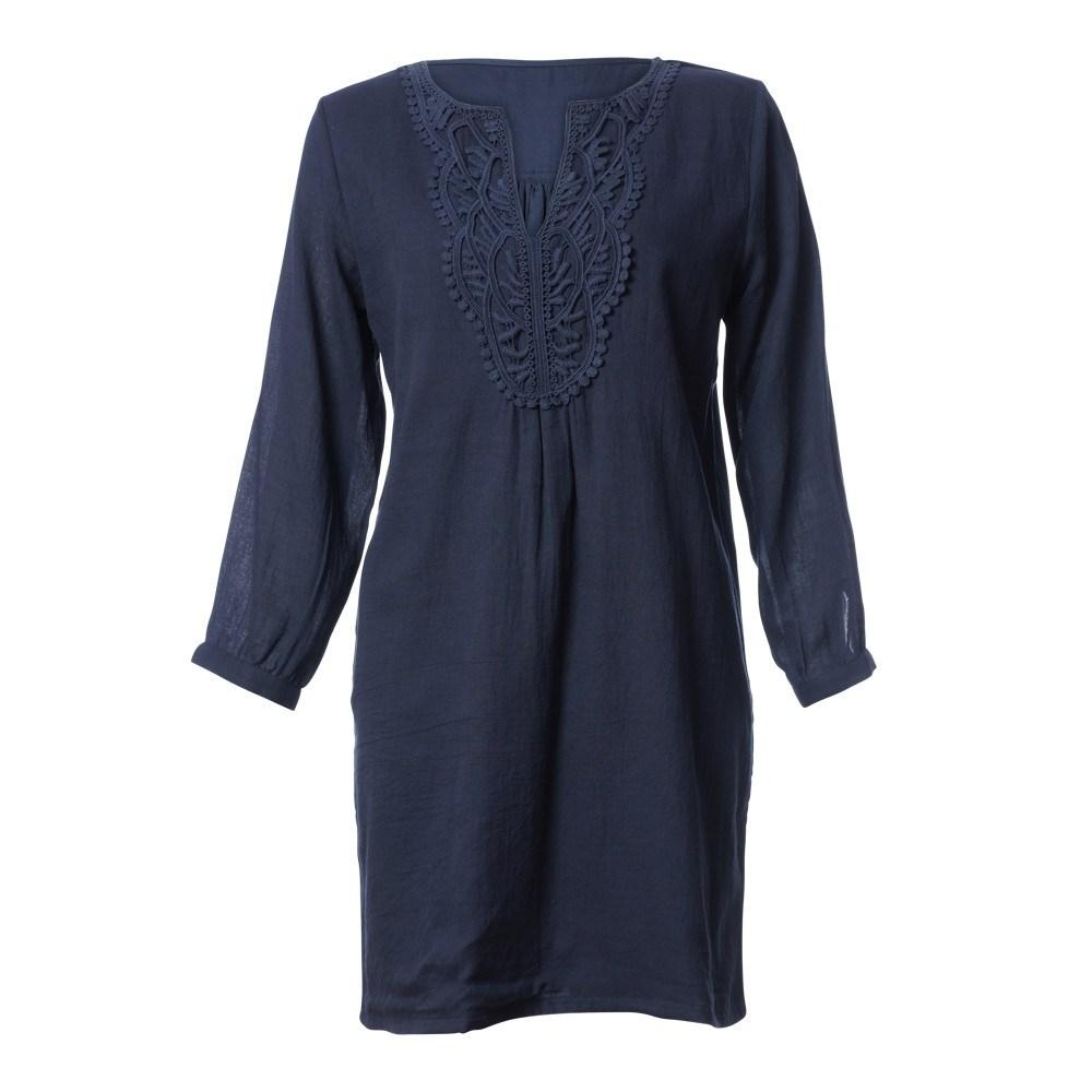 Nina v neck navy tunic - BIBICO