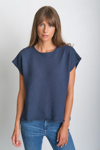 Olga Knitted Sleeveless Cotton Top - BIBICO
