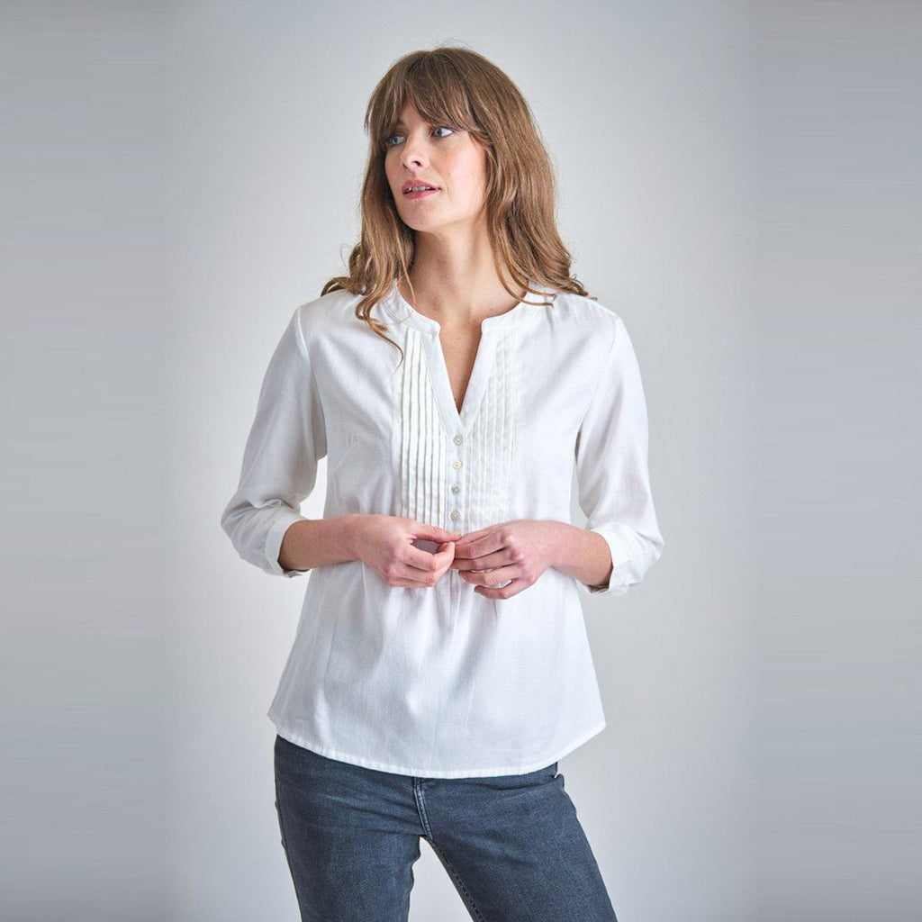Olga Pleated Blouse Bibico