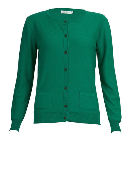 Olivia Green Textured Cardigan - BIBICO