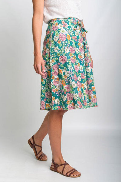 Orla Floral Print Cotton Skirt - BIBICO