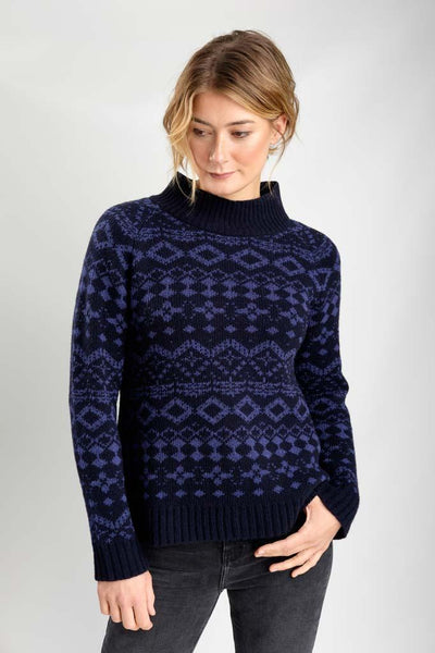 Orley Fair Isle Wool Sweater - BIBICO