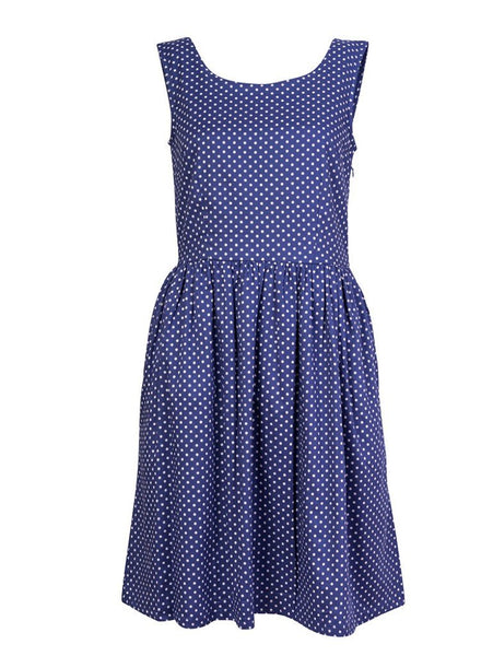 Polka Dot Sleeveless Dress - BIBICO