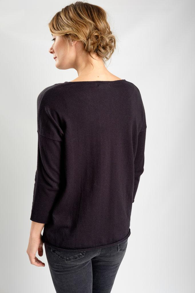 Regina Relaxed V Neck Jumper - BIBICO