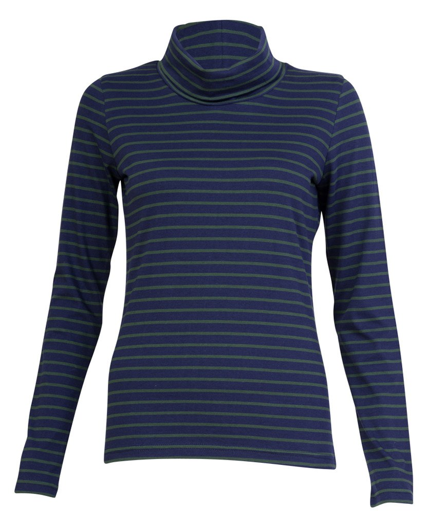 Roll Neck Breton T Shirt - BIBICO