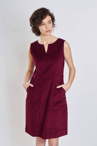 Rosie Cord Shift Dress - BIBICO