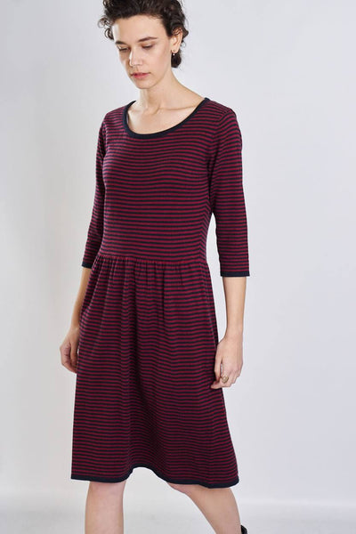 Rosie Striped Knitted Dress - BIBICO