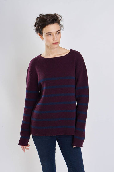 Rosie Wool Striped Jumper - BIBICO