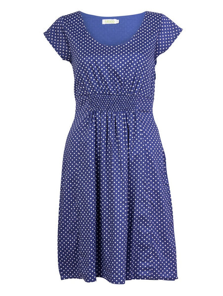 Safia Blue Polka Dot Dress - BIBICO
