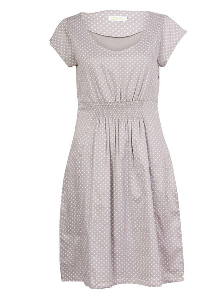 Safia Grey Polka Dot Dress - BIBICO