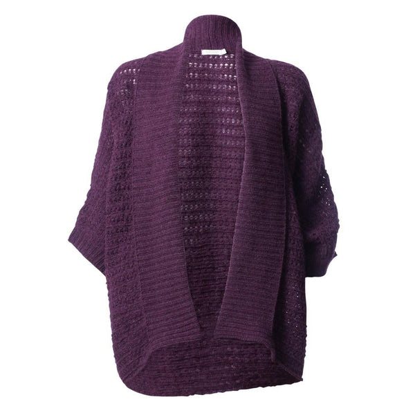 Shawl neck merino wool cardigan - BIBICO