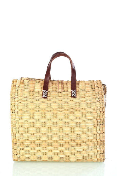 Short handle straw shopper - BIBICO
