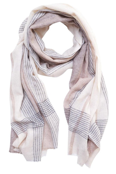 Somerset Check Wool Scarf - BIBICO