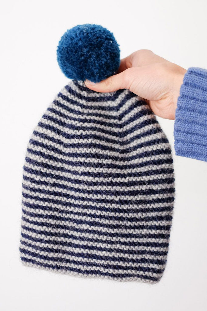 Striped Bobble Hat - BIBICO